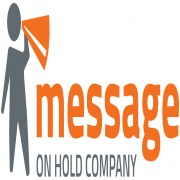 Message On Hold Company Business Logo